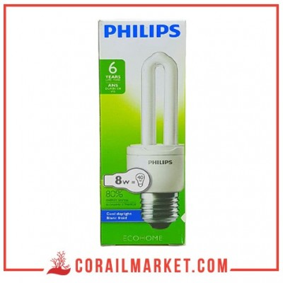 Lampe ecohome philips 8 w