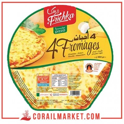 Pizza semi-cuite 4 fromages frichka 380 g