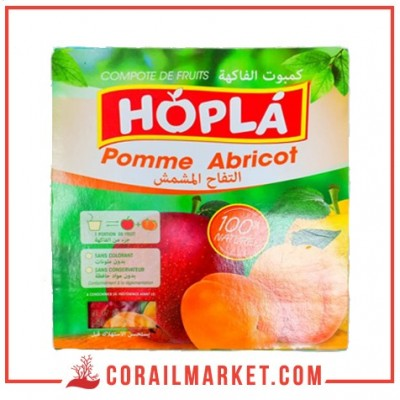 compote pomme abricot hopla 4 X 100 G