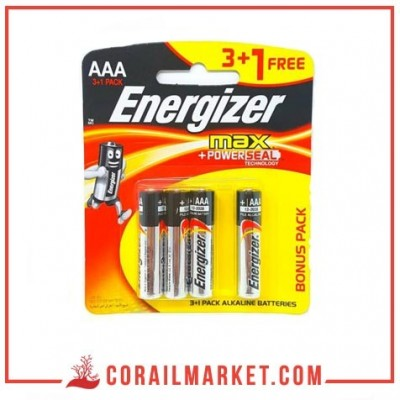 pile Energizer MAX – Blister Pack 4 – AAA