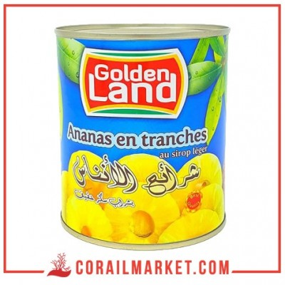 Ananas tranches Golden Land 850g