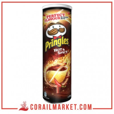 Chips hot spicy piquant pringles 165 g